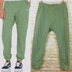 Men'sStussy Basic Sweatpants Drawstring Green